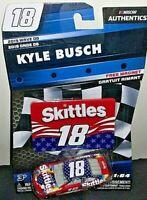 KYLE BUSCH #18 SKITTLES TOYOTA CAMRY WAVE 8 NASCAR AUTHENTICS DIECAST 2018 RARE