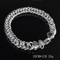 beautiful Fashion charm 925 silver charm 10MM MEN women pretty bracelet H102