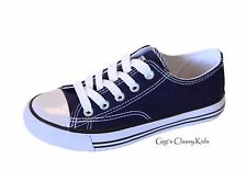 Boys Size Crevo Footwear Hermosa Navy Blue Double Straps Canvas Shoes 7