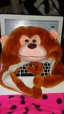 plush animal hat Brown Monkey No tag Tons more and combined shipping!!