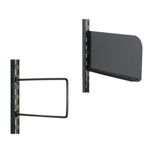 BLACK Twin Slot Accessories for Shelving Systems Universal Book Shelf End.