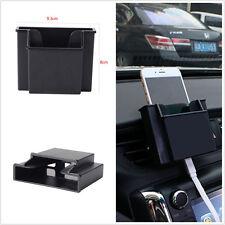 In-Car Double Deck Storage Box 3M Tape Pocket Organizer Phone Charging Holder