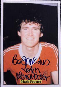 Signed Mark Proctor Middlesbrough FC Football Card Autograph Signature