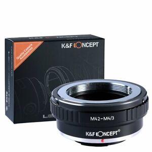 K&F Concept M42-M4/3 Objektiv Adapterring für M42 Mount Objektiv auf M4/3 MFT DE