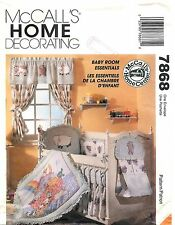 Vintage 1995 McCall's Home Decorating # 7868 Sewing Pattern: Baby Room Essential