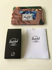 New Herschel Supply Men's Street Style Card Holder Wallet RFID Protect Flower
