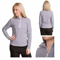 Trespass Overjoy Womens Long Sleeve Active Top Jumper with Zip Neck