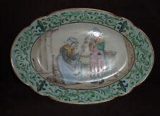HJC - Plat en porcelaine de Vierzon à décor breton dans le goût de Porquier Beau