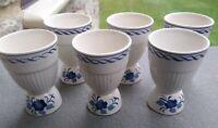 6 VINTAGE OLDER Adams Baltic Blue Ironstone Easter egg Cups