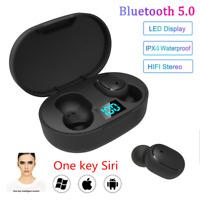 E6S BT5.0 Mini Earbuds TWS Wireless LED Earphone Waterproof InEar Stereo Headset