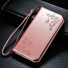 Flower Butterfly Leather Stand Case Wallet Card Cover For iPhone Samsung LG G