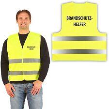 10x Signalweste Warnweste gelb Druck: BRANDSCHUTZHELFER auf Rücken und Brust