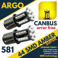 2x 44 SMD LED CANBUS ERROR FREE 581 BAU15S 1156 21W BULBS INDICATOR ORANGE AMBER