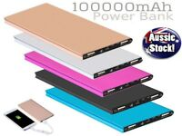 External Power Bank 100000mAh Dual USB Portable Battery Charger For ALL Phones