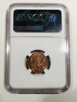 NGC Graded MS 63 RB 1980 Canada Penny One Cent