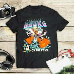 Vintage The Mighty Ducks T Shirt Vintage Gift For Men Women Funny Black Tee