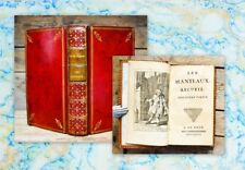 1746 Les Manteaux 2 in1 Vol Anne Claude de Caylus Red Morocco remboitage Binding