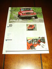 JEEP J-12 CONCEPT CAR - PICK UP TRUCK  ***ORIGINAL 2012 ARTICLE***