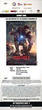 Robert Downey Jr. IRON MAN 3 Gwyneth Paltrow Ben Kingsley premiere ticket
