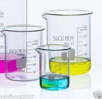 4 Pieces Pack Glass Borosilicate GG-17 Graduated Beakers 5ml 10ml 25ml 50ML New