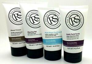 2 x The Real Shaving Co. Professional Formula Shaving Cream, Gel, Scrub & Balm
