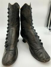 New listing Antique Victorian Civil War 1860 - 1870 Brown Leather Button Shoes