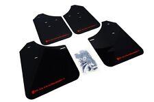 Rally Armor Mud Flaps Guards for 02-07 RS WRX & STi Sedan (Black w/Red Logo)