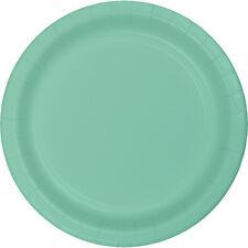 "24 Mint Green Wedding Birthday Party Tableware 7"" Paper Dessert Plates"