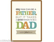 Happy Fathers Day Gift Card Insert Refrigerator / Tool Box Magnet