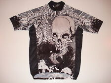 New SKULL DEAD TONGUE Cycling Road Bike Jersey size  M