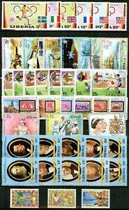 LIBERIA -1972-1988-7 CPL. SETS -  VF °