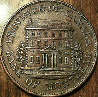 1844 LOWER CANADA BANK OF MONTREAL HALFPENNY TOKEN - Really nice have a look