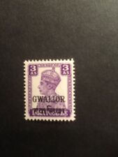 India Gwalior State 3A SG124 GVI Lightly Mounted Mint