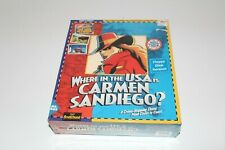 "PC 3.5"" Floppy Disk Game Where in the USA Is Carmen Sandiego 1994 NIB Sealed"