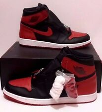 Nike Men's Air Jordan 1 Retro I High OG Banned Bred Black/Red sz 17 [555088-001]