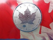 2016 Canadian Maple Leaf Clover Privy Reverse Proof coin .9999 ultra fine silver