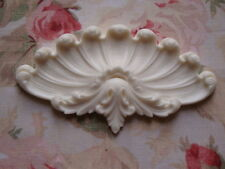 New! French Shell Acanthus Center Architectural Pediment Furniture Applique