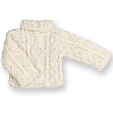 "Ivory White Irish Cable Knit Sweater Clothes for 18"" American Girl Doll Clothes"