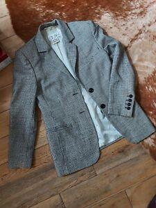 Laurel By Escada Vintage Monochrome Blazer Jacket UK 10