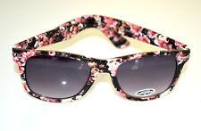 Gafas de sol mujer negras flores rosadas multicolores lentes Sonnenbrill BB4