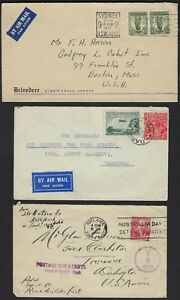 AUSTRALIA 1950s COLLECTION OF 20 COMMERCIAL COVERS VARIOUS FRANKINGS INCLUDES PO