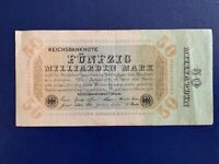GERMANY - 50 BILLION  MARK  BANKNOTE 1923- BERLIN- VERY FINE