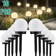 10 PCS Solar LED Stake Lights Garden Landscape Outdoor Waterproof Decor Lamps US