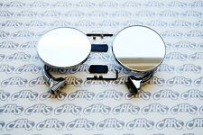 Peep Mirrors. Pair | 3'' | Universal Fit w/ Hardware | Rat Rod Hot Rod