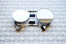 Peep Mirrors. Pair | 3' | Universal Fit w/ Hardware | Rat Rod Hot Rod