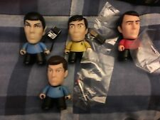 Star trek   spock  sulu  mcoy scotty titans  mini   collectable   figures