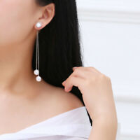 Elegant Women Long Earring Pearl Charm Tassel Jewelry Earring  Brida  Wedding