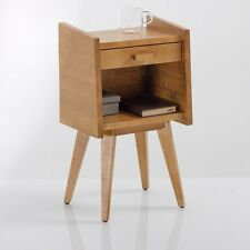 BNIB La Redoute Quilda Vintage Wood Bedside Table Unit Coffee Occasional RRP £91