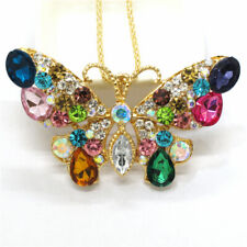 Multi-Color Butterfly Betsey Johnson  Pendant Necklace N07
