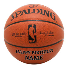 REAL ICING Basketball NBA Personalised Cake Topper Edible Birthday Decoration